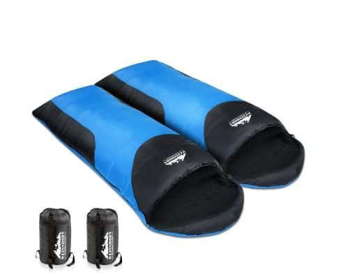 Double Camping Sleeping Bag Blue/Black *FREE postage in Aus – Lenny's Boutique