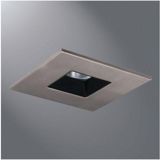 "Recessed Kitchen Lighting: Halo Lighting TLS408SNBB 4"" LED Square Baffle Recessed"