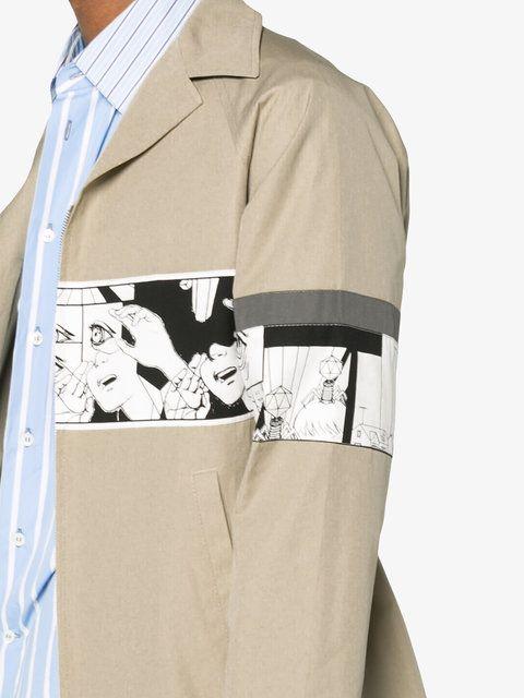 Shop Prada comic band mac jacket