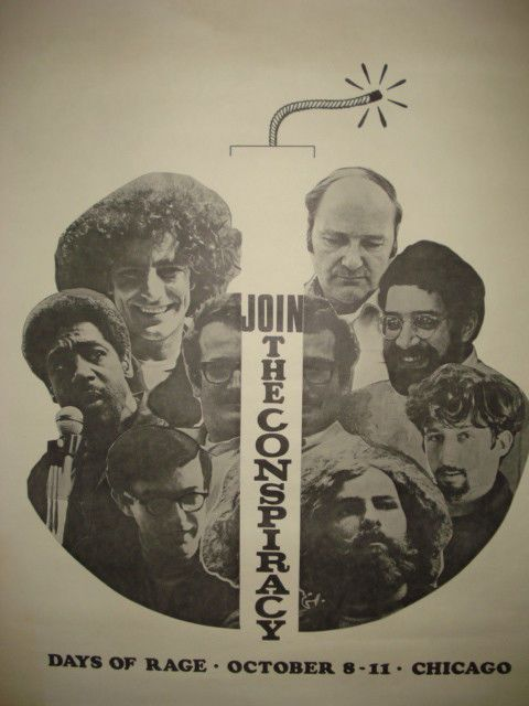 Days of Rage Chicago 8-11-69 Weather Underground-SDS Join the Conspiracy Poster