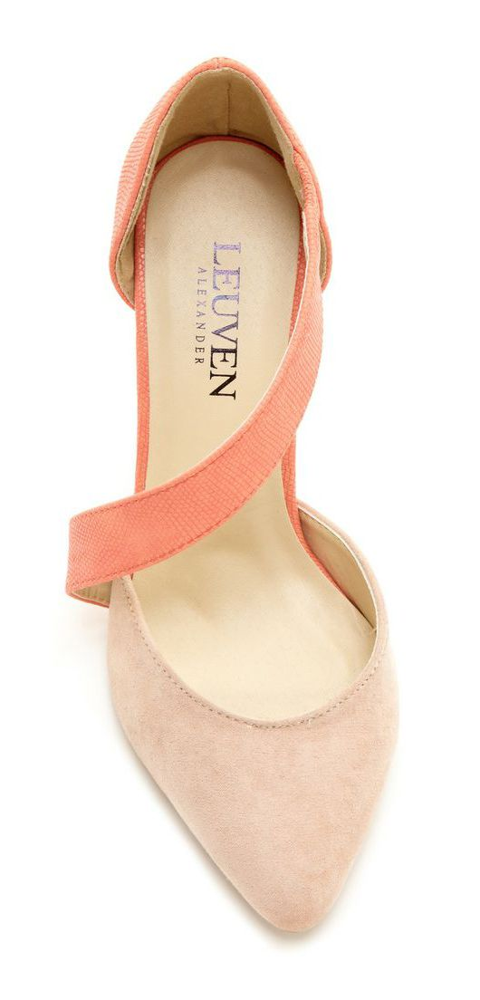 Nude + Coral Heels