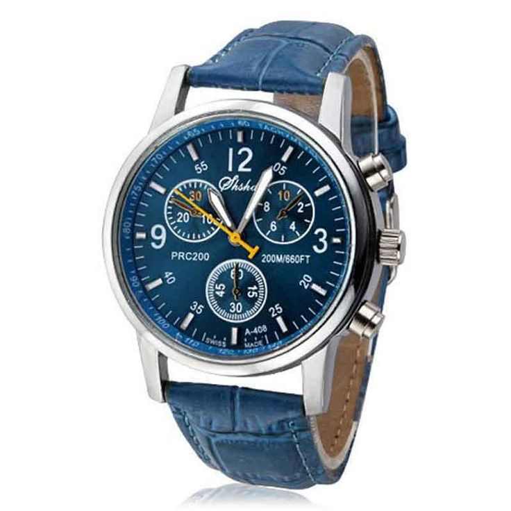 Blue relogio masculino Quartz Clock Fashion relojes hombre 2017 Faux Leather Analog Wristwatches erkek kol saat Leisure relogio