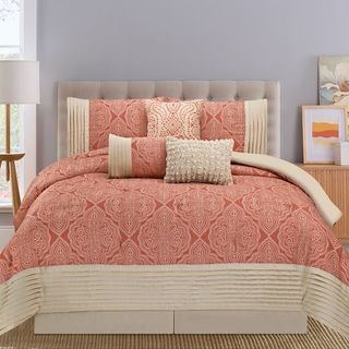 Shop for Montpellier Coral and Tan 7-piece Comforter Set. Get free shipping at…
