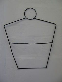 $25 Black WIRE MANNEQUIN Body Wall Hanger 43x13x50cm Text 0411691171 or email info@bitspencer.com