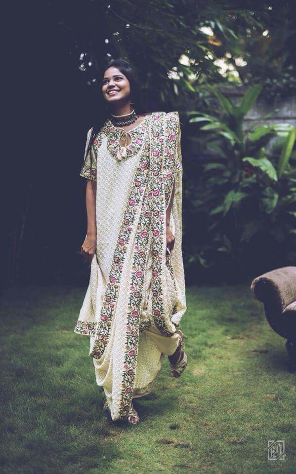 email sajsacouture@gmail.com for this eggshell white Pakistani style kameez and pant with an ultra long dupatta