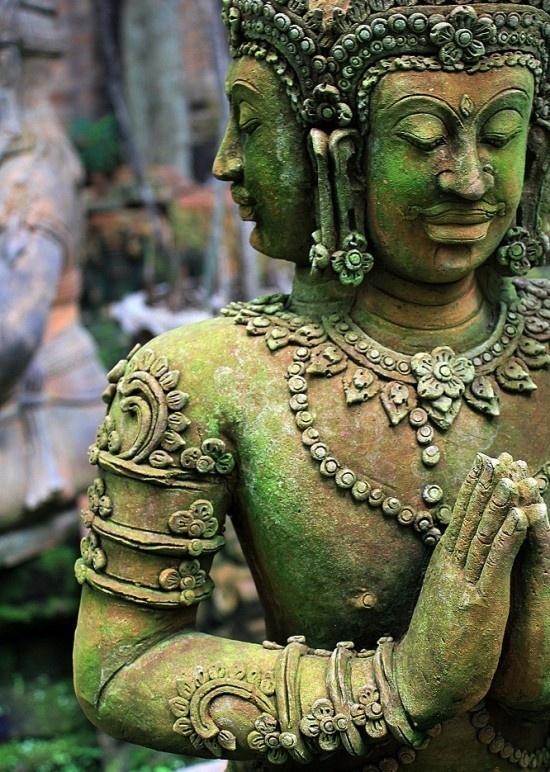 Vishnu/Buddha, Angkor Wat, Cambodia (temple was first Hindu then converted to Buddhism)