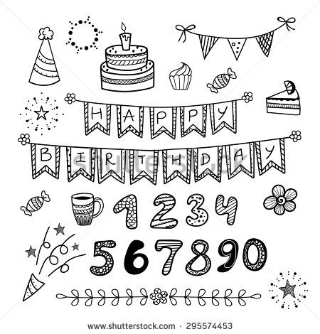 happy birthday doodles - Google Search