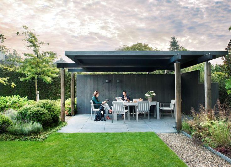 25 beste idee n over modern tuinontwerp op pinterest moderne tuinen modern landschapsontwerp - Veranda modern huis ...