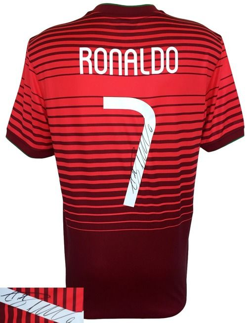 Cristiano Ronaldo Signed Nike Portugal National Team Soccer Jersey Icons