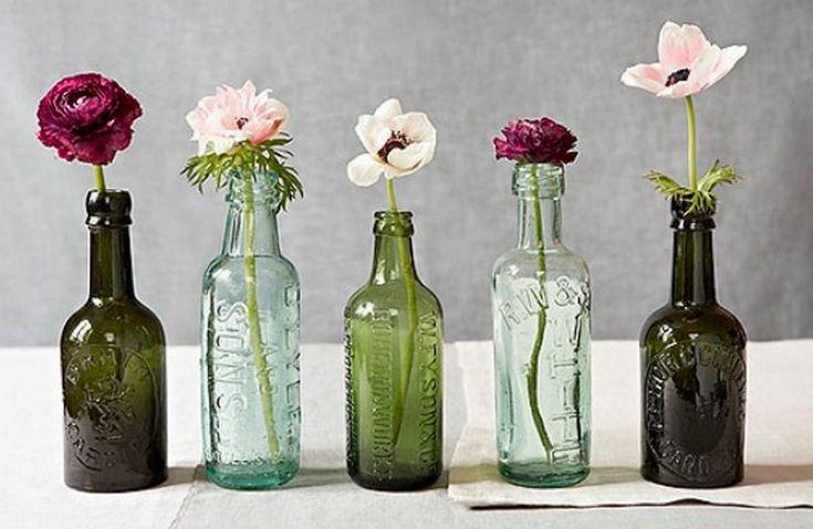 Decoración flores al estilo vintage.