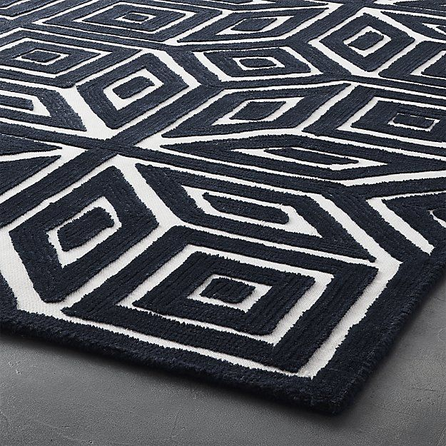 Shea Blue And White Rug Cb2 Blue And White Rug White Rug Rugs On Carpet