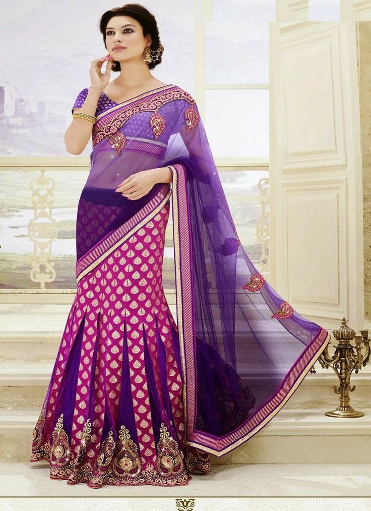 lehenga sarees are the IN thing today. Wear them for Party, Weddings, festivals or any ocassions.