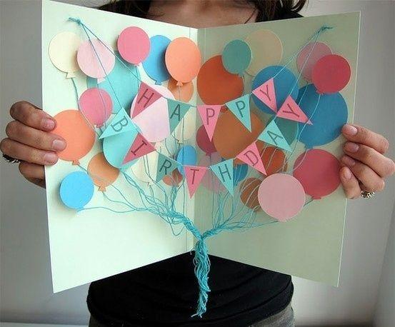 """Открытки на День Рождения своими руками I Мастер-класс: """"Как сделать открытку своими руками"""""""