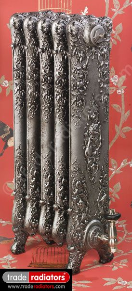 Saint Paul Cast Iron Radiator finished in Antiqued Pewter