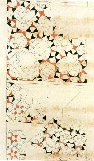 Muqarnas schematic drawings from the Topkapi Scroll, late 15th - 16th century Iran