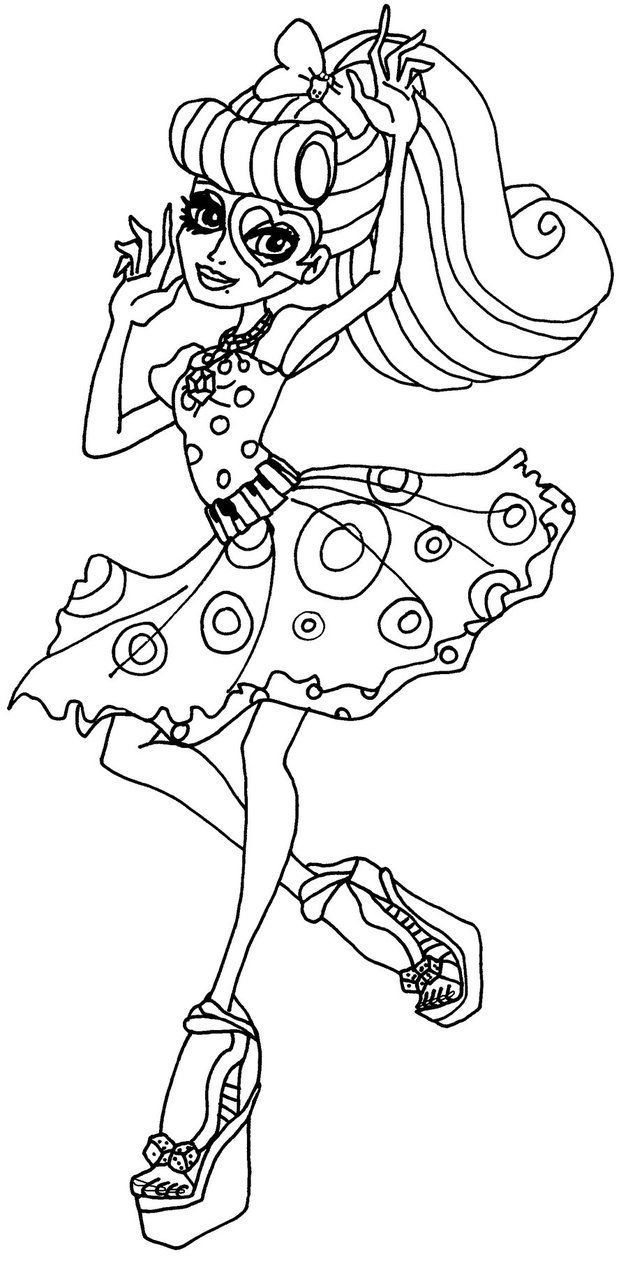 Nico the unicorn coloring pages - Operetta Monster High Coloring Page