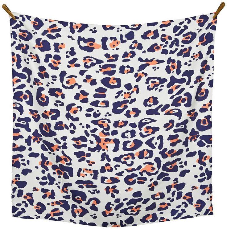 Leo silk twill scarf #animalprint #footprint ss16