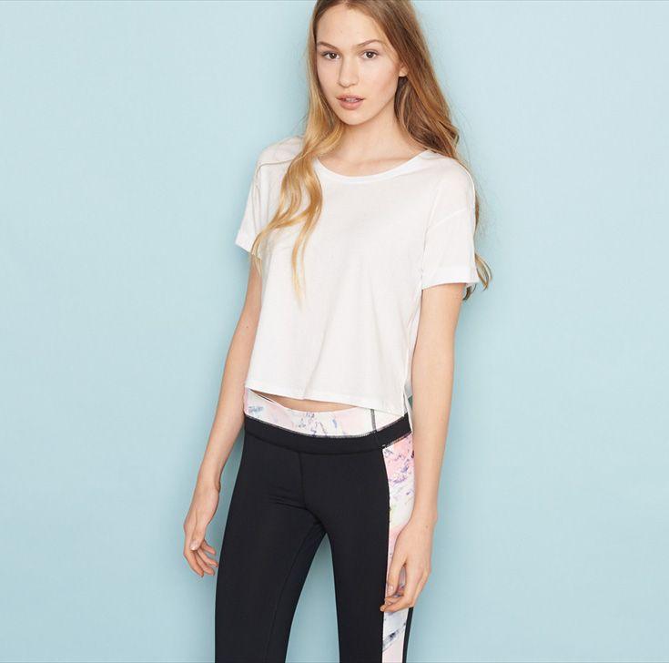 Folded Cuff Tee. #activewear