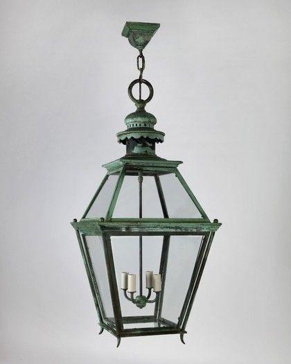 Verdigris Lantern, Circa 1920