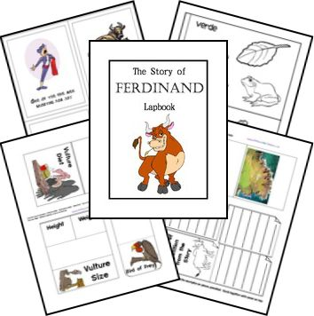 The Story of Ferdinand FREE Lapbook Notebook Printables and Kindergarten Kit