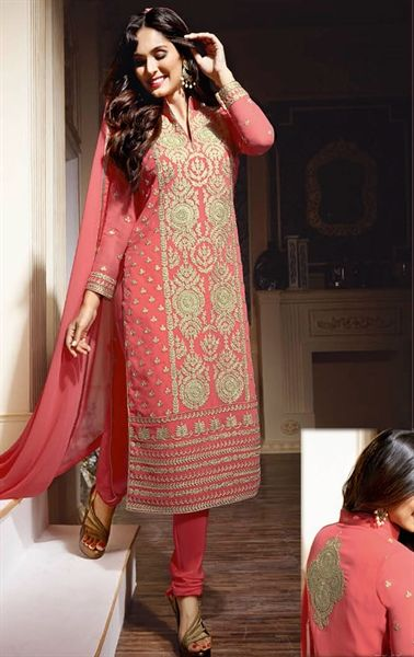 Magical Salmon Designer Salwar Suit