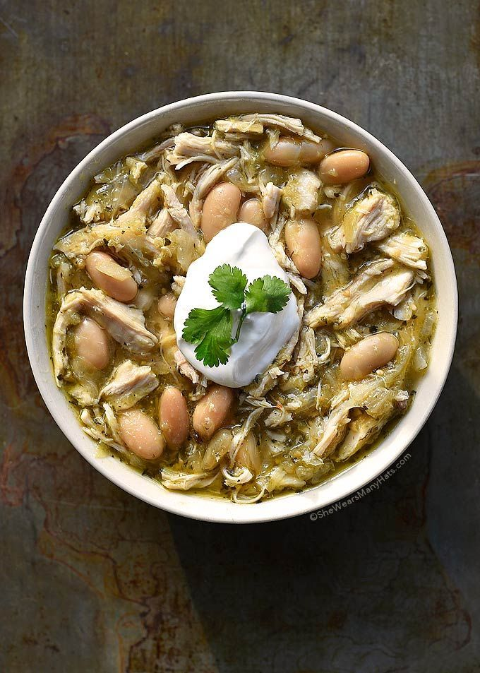 This easy Verde Chicken Soup Recipe is so flavorful and healthy too! Made with salsa verde, chicken and white beans a bowl of this soup is a tasty way to end a chilly day.