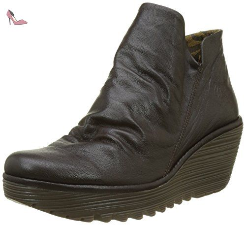Fly London Yip, Bottes Femme, Marron (Chocolate), 40 EU - Chaussures fly london (*Partner-Link)
