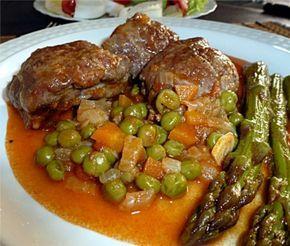 Carrillada iberica en salsa con guisantes... www.cocinandoconencarni.es
