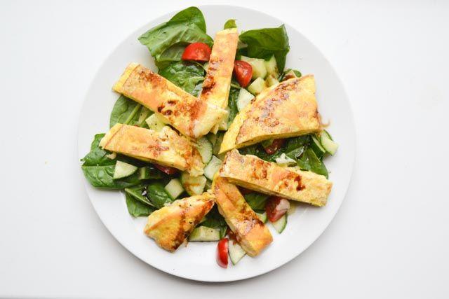 Geitenkaas Omelet Salade