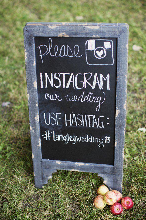 Instagram Wedding Hashtag Sign