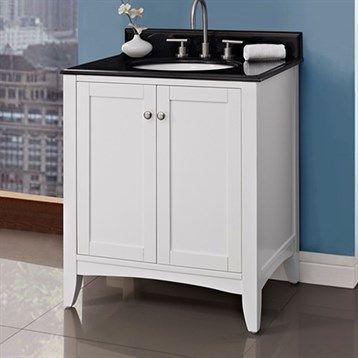 "Fairmont Designs Shaker Americana 30"" Vanity - Polar White | Free Shipping - Modern Bathroom"
