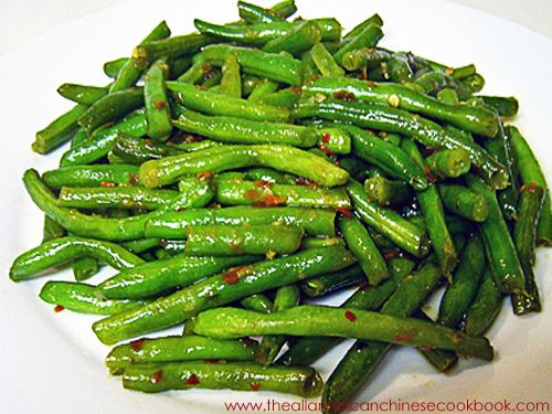 szechuan-style spicy green beans (much healthier than the chinese takeout version...did you know chinese restaurants deep fry the green beans?)