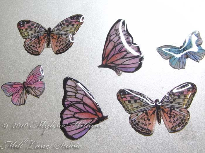 Print an image, cut it out, and coat it with resin to make durable pieces - strong enough for jewelry, or make butterflies to add to wreaths, possibilities are endless!