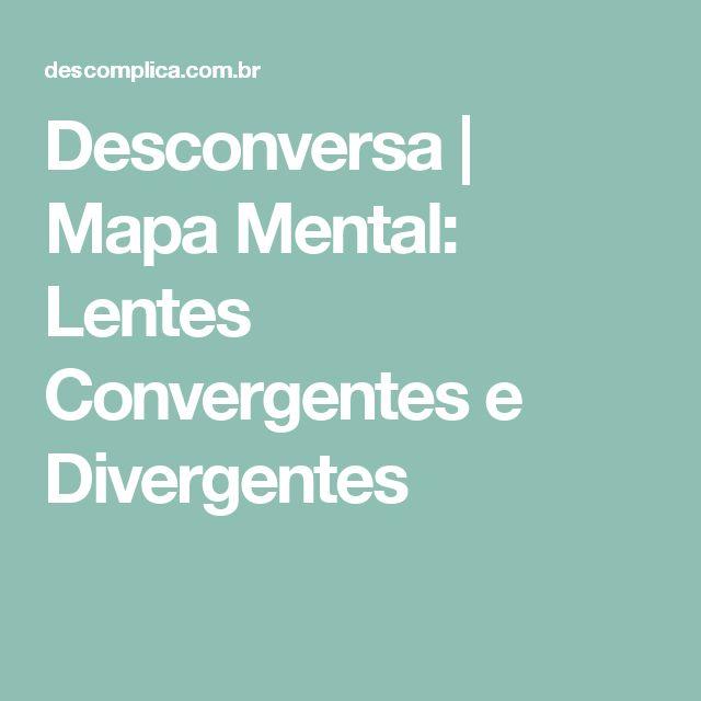 Desconversa | Mapa Mental: Lentes Convergentes e Divergentes
