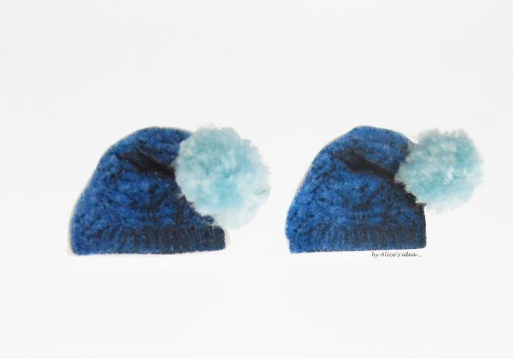 """Earrings ,,Winter Hat""""... www.alicesidea.pl #earrings ."""