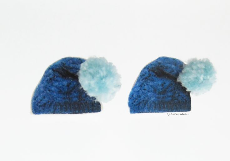 "Earrings ,,Winter Hat""... www.alicesidea.pl #earrings ."