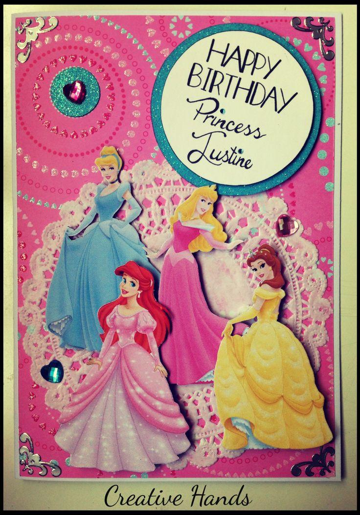 Disney Princesses Handmade Birthday card by CREATIVE HANDS ...