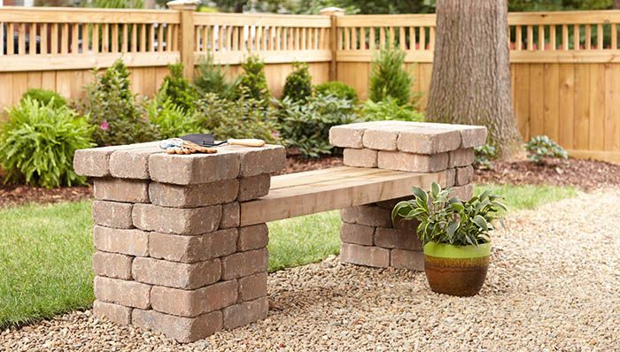 Build a Patio Block Bench