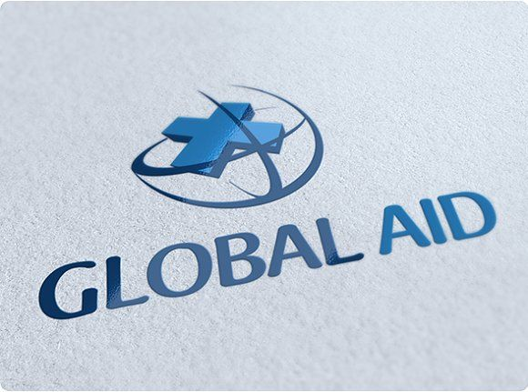 Global Aid Logo Design by getlogo on @creativemarket