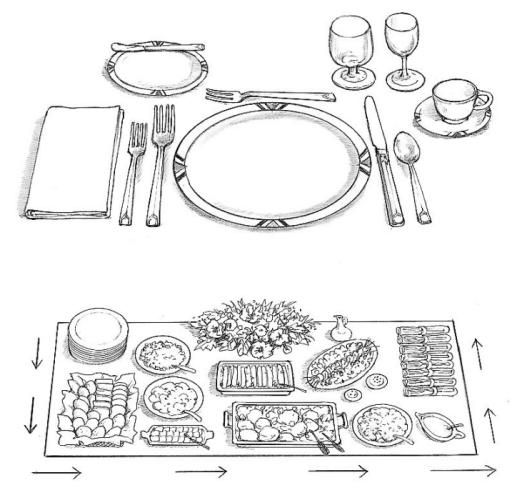 25  best ideas about buffet table settings on pinterest