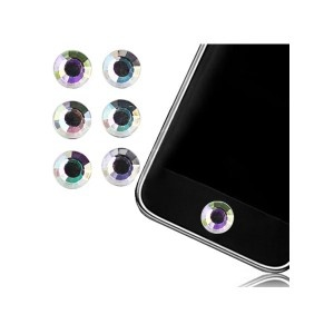 #boutonhome #apple #iphone #ipad #ipod #homebuttonsticker #shiny #or #dore #gold #diamond #diamant #white Sticker Bouton Home Diamant Blanc pour iPhone, iPad, iTouch, iPod