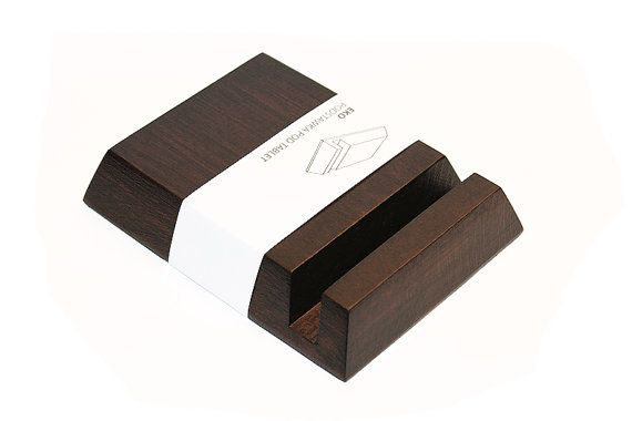 Handmade Wooden Tablet Smartphone Stands Eco Palisander