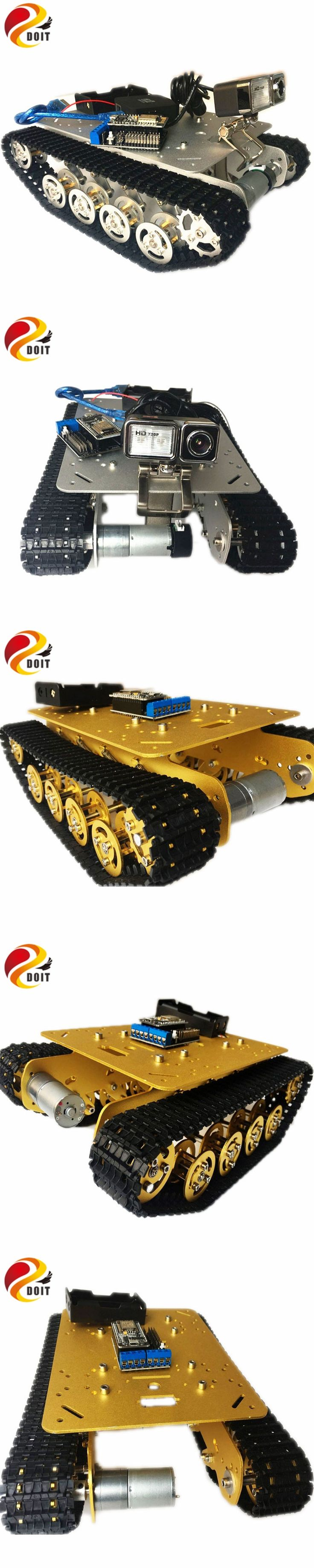 DOIT TS100 RC WiFi Robot Tank Car Chassis Controlled by Android/iOS Phone based on Nodemcu ESP8266 Development Kit with Video