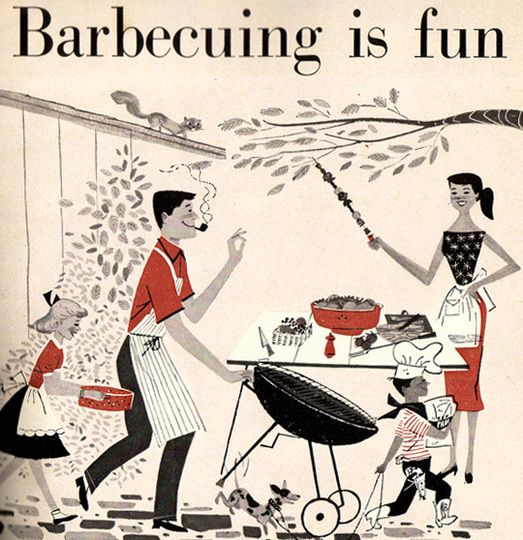 Barbecuing is fun - especially with chocolate barbecue sauce. #recipes.