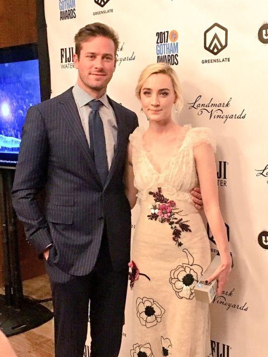 Armie Hammer, Saoirse Ronan  2017 Gotham Awards, New York City   November 27, 2017