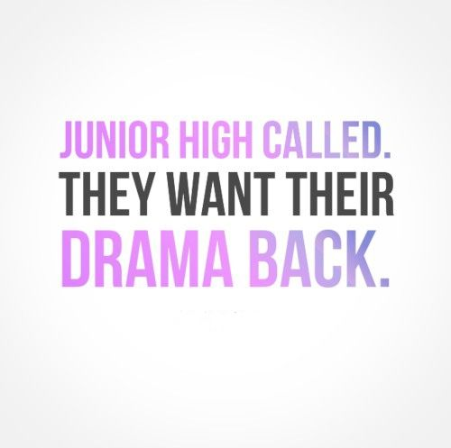 Junior high called. They want their drama back. | Share Inspire Quotes - Inspiring Quotes | Love Quotes | Funny Quotes | Quotes about Life