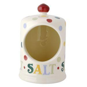 Polka Dot Text Salt Pig
