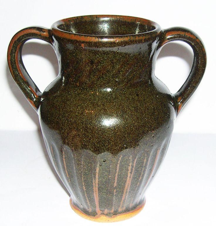 Studio Pottery Friars Aylesford David Leach Stoneware Twin Handled Vase | eBay