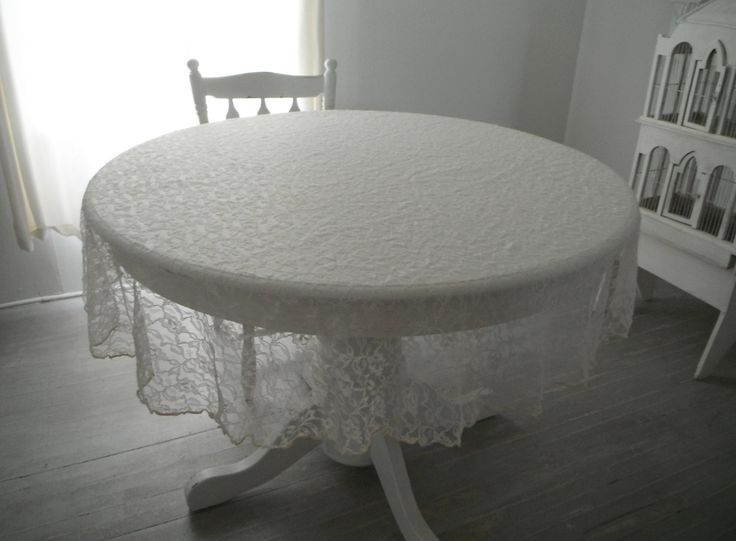 Good Sheer Lace Tablecloth Cream Tablecloth Floral Lace Cloth Tea Party Cloth  Photo Prop Round Tablecloth Shabby Decor Cottage Chic   60 Inch