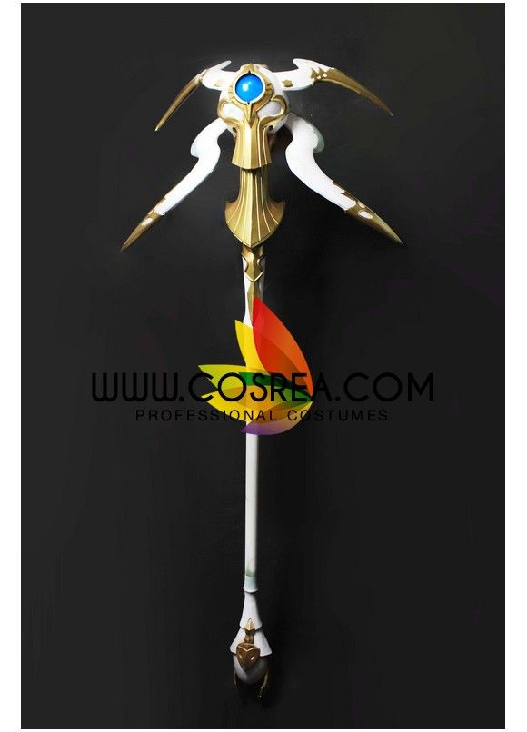 Item Detail Final Fantasy 14 White Mage LED Staff Cosplay Prop Includes - Staff Important Information: Primary Material - EVA, PVC, Light Wood, PU Leather Safety - All props are made with convention/e